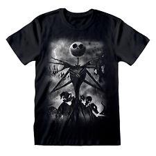 Official Nightmare Before Christmas Stormy Skies T Shirt Jack Skellington Burton