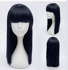 USJF19 cosplay long dark blue mix black straight health hair Wig wigs for women