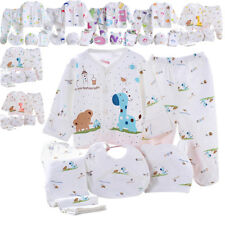 5Pcs Newborn Baby Infant Girls Boy Grow Clothes Sets PJS T-shirt Pants Outfits