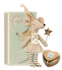 New listing Maileg Tooth Fairy Big Sister Mouse in a Box with Gold Tin