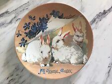 """Vintage Mint Ceramic """"A Joyous Easter� Plate Retro"""