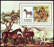 Fujeira 1972 ** Bl.99 A Pfadfinder Scouts Scouting Zebra Pferde Horses