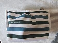 agnes b striped travel case made for Cathay Pacific with bonuses