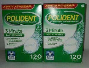 Polident 3-Minute Triple-Mint Antibacterial Denture Cleanser, Effervescent Table