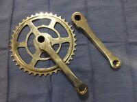 NOS CRANK SET ARM and SPROCKET vintage bicycle cotter pin crank