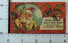 Christmas Trade Card Peter Albert Boot Shoe Store Santa Beige Suit Moon Toys F67