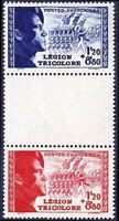 "FRANCE TIMBRE STAMP N° 566 a "" LEGION TRICOLORE PAIRE INTERVALLE "" NEUF xx TTB"