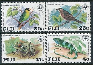 1979 FIJI WWF ENDANGERED SPECIES SET OF 4 FINE MINT MNH
