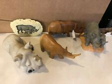 Lot of 5 Rhino Collectible Figurines Pier1 Second Nature Design Decorative #2471