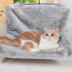Cat Radiator Bed Over Mounted Hanging Hammock Shelf Perch Heated Kitty Grey Gray