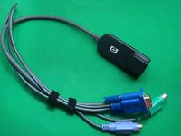 HP RJ45 Cat5 Networking VGA Server Enthernet Booster IP KVM Adapter Switch Cable