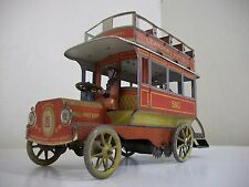 Vintage Lehmann 590 Autobus Tin Wind Up Original