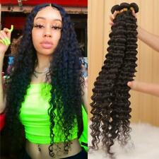 10A 24Inch Brazilian Deep Wave  Virgin Human Hair Bundles Curly Human Hair Weave