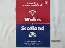 Wales v Scotland. Under 21's Rugby Union International.