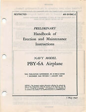 PBY-6A Erection and Maintenance Inst's Flight Handbook Flight Manual -CD