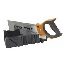 Trade Pro Quality Hand Saw PLUS Mitre Box Set. Durable, Accurate, Precision Cuts