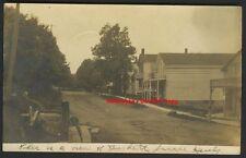 Real Photo 1906 Burdett NY Main Street RPPC Schuyler Co