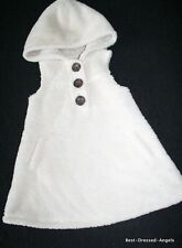BABY GAP Himalaya Cozy Ivory Sherpa Hoodie Jumper Dress Girl Size 2 Plush Soft