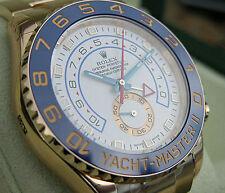 Rolex YACHT-MASTER II 116688 Mens Yellow Gold Blue Ceramic Bezel White Dial 44MM
