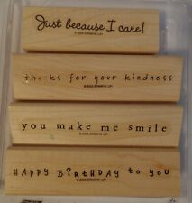 New listing Stampin' Up 2003 (Set of 4 Stamps) Simple Sayings
