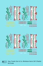 K4 HO Decals Mistletoe Hams 36 Ft Billboard Reefer