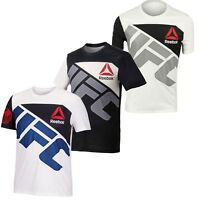 Reebok Men's UFC Jersey Custom T-Shirt Crew Neck Short Sleeve Polyester NEW