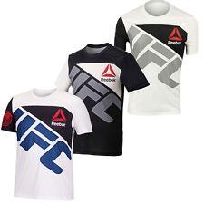 Reebok Para Hombre UFC Jersey Personalizado Camiseta De Manga Corta Cuello Redondo Poliéster Nuevo