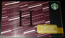 "STARBUCKS US 2014 GIFT CARD ""LETTER H"" A to Z Alphabet Series NEW 99 NO VALUE"