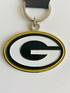 """GREEN BAY PACKERS THICK METAL KEYCHAIN KEY RING DECAL LOGO NFL FOOTBALL 3"""""""