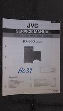 JVC kx-950 service manual original repair book stereo tape deck karaoke singer
