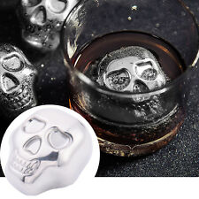 Skull Shaped Stainless Steel Ice Cubes For Ice Whiskey Ice Wine Tools New