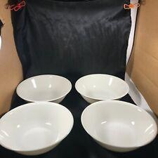 "Set of 4 CORELLE Frost White 8-1/2"" Pasta Serving Bowls"
