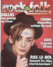 REVUE : Rock & Folk # 216 elvis presley boy george frankie goes to hollywood
