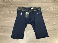 Nike Pro NBA Team Player Issued PE Basketball Compression Shorts Navy 880802-419