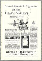 1931 General Electric MONITOR-TOP Refrigerator advertisement, Furnace Creek Inn