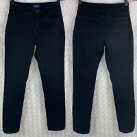 NYDJ Not Your Daughters Jeans Women's Size 2 Black Leggings 28 X 30 Stretch EUC