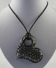 Brass Glass Love Hearts Costume Necklaces & Pendants