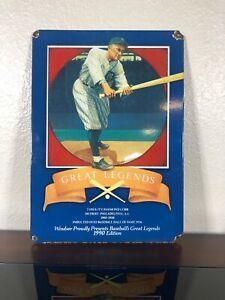 "Great Legends 1990 Windsor Canadian Ty Cobb - Baseball Porcelain Sign 10"" X 14"""
