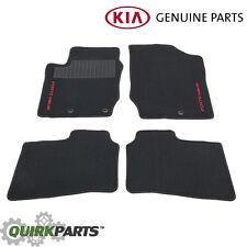 OEM NEW Carpet Floor Mats Black w/ Red Logo 10-13 Kia Forte Koup P8140-1M510WK