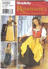 Simplicity Pattern 5582 Renaissance Gown Dress Costume Misses Szs 4 6 8 10 Uncut