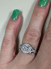 Victoria Wieck 925 Sterling Silver CZ Ring size 9