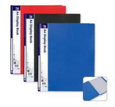 A4 DISPLAY BOOK 20 POCKETS/40 SIDES DOCUMENTS FOLDER~PRESENTATION FILE PORTFOLIO