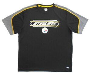 NFL Pittsburgh Steelers Mens Prem Crew-Neck Athletic Shirt XL New