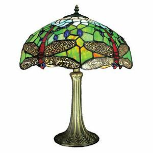 Dragonfly Stained Glass Designed Tiffany Table Lamp 40cm Shade Diameter PM05