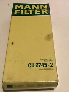 Mann CU2745-2 Cabin Filter For Mercedes Benz