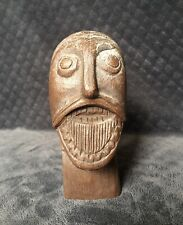Petter Omtvedt Rauland Norway Folk Art Carved Wood Head Sculpture