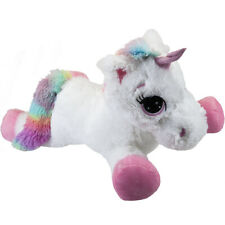 "60cm 23"" Super Soft Stuffed Large Unicorn Teddy Cuddly Toy Lying Horse Plush"