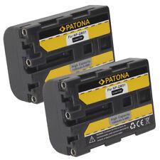 2x Batteria Patona 7,2V 1300mAh per Sony DCR-DVD91E,DCR-HC14,DCR-HC14E,DCR-HC15