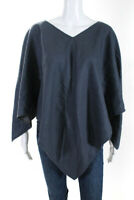 prAna  Womens Dhyana Poncho Grey Wool Silk Lined One Size