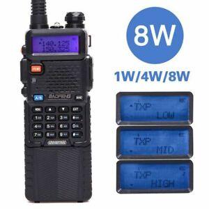10km Long Rang Two Way Radio Walkie Talkie UV-5R 8W High Power CB Portable VHF